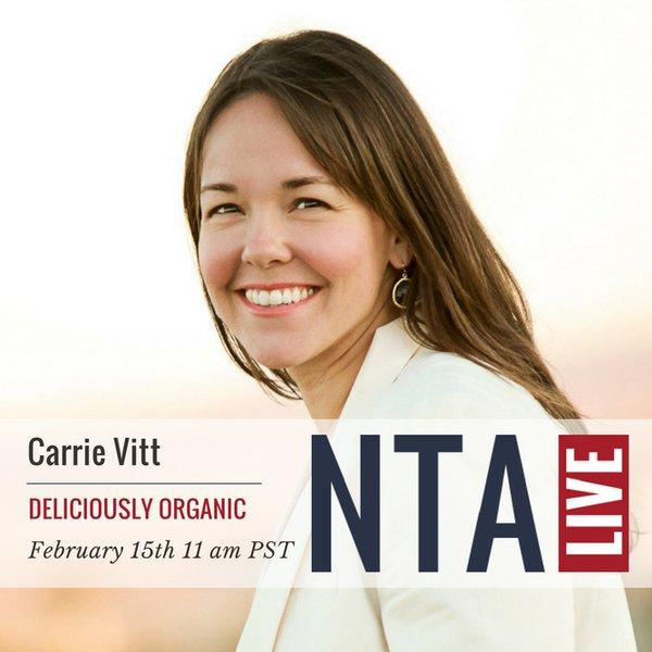 NTA Live Series with Carrie Vitt