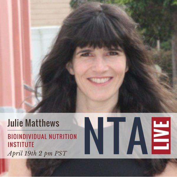 NTA LIVE Series with Julie Matthews